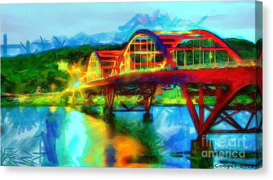 Bridge At Night Canvas Print by Max Cooper