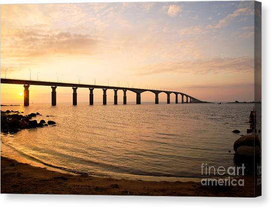 Bridge At Sunrise Canvas Print