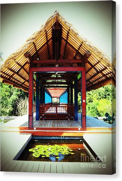 Bridge At Ubud Canvas Print