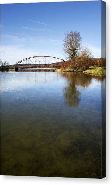 Canvas Print featuring the photograph Bridge At Upper Lisle by Christina Rollo