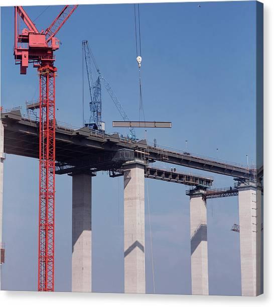 Queen Elizabeth Canvas Print - Bridge Building by Robert Brook/science Photo Library