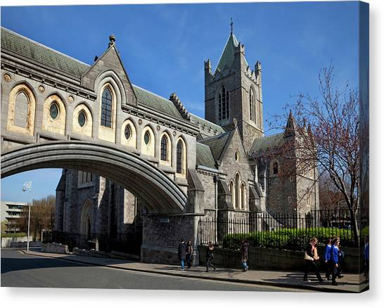 Old Christ Church Canvas Print - Bridge From The Synod Hall To Christ by Panoramic Images