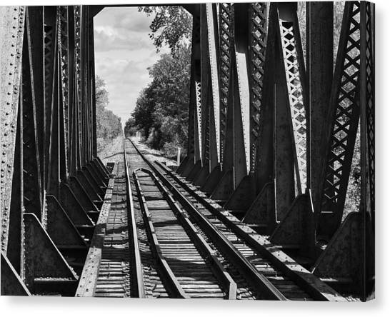Bridge In Black And White Canvas Print