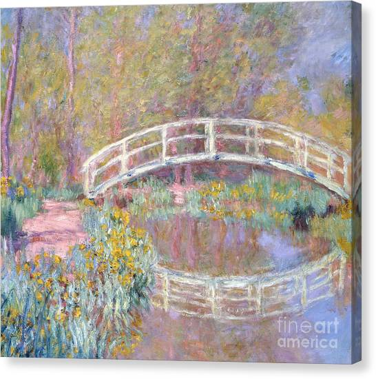 Forest Paths Canvas Print - Bridge In Monet's Garden by Claude Monet