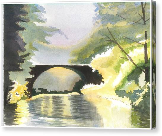 Bridge In Shadows Canvas Print