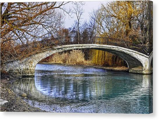Bridge In The December Sun Canvas Print