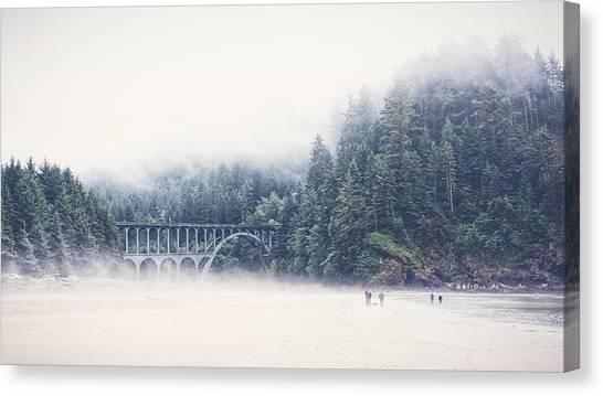 Bridge In The Mist  Canvas Print