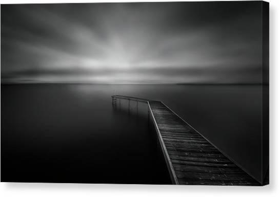 Pier Canvas Print - Bridge by Larry Deng