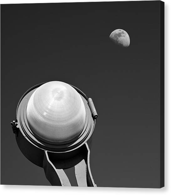 Moon Canvas Print - Bridge Light by Dave Bowman