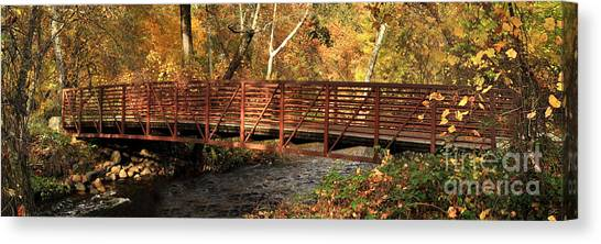Bridge On Big Chico Creek Canvas Print