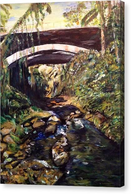 Bridge Over Calm Waters Canvas Print