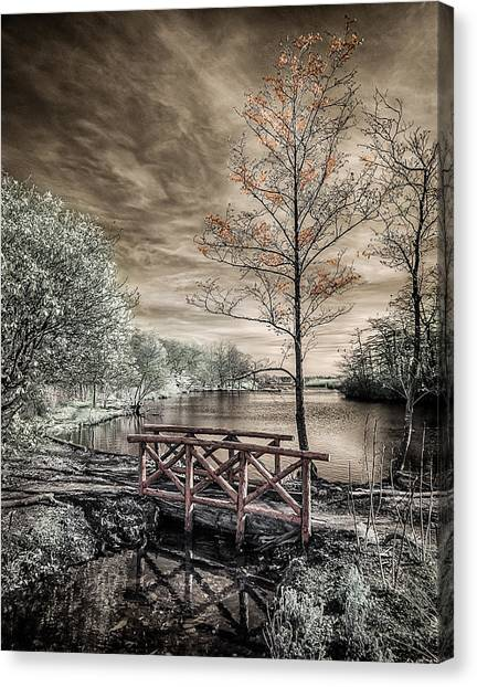 Bridge Over Calm Waters Canvas Print