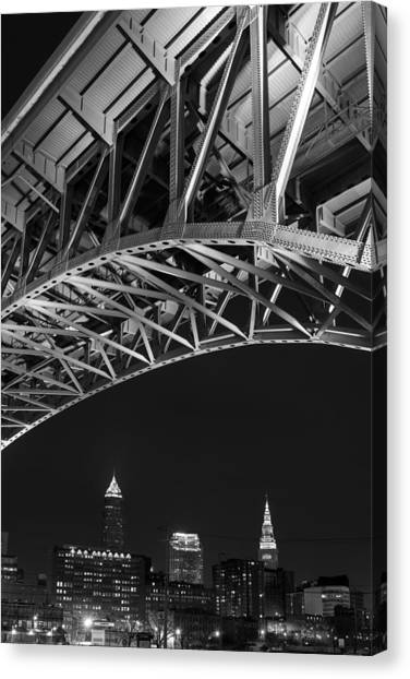 Bridge Over Cleveland  Canvas Print
