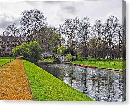 Bridge Over River Cam Canvas Print