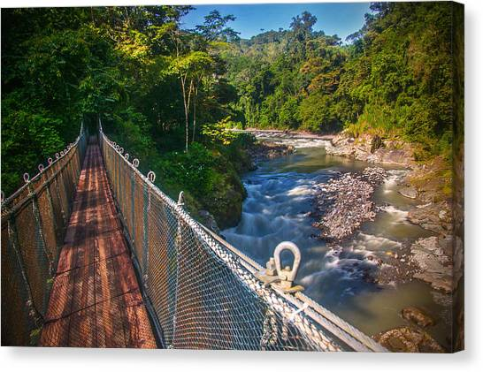 Bridge Over The Pacuare Canvas Print