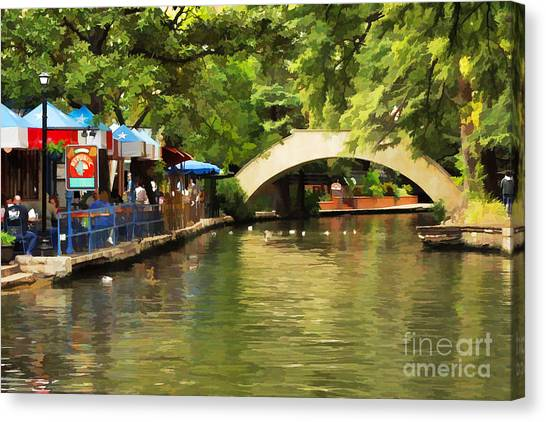 Bridge Over The Riverwalk Canvas Print