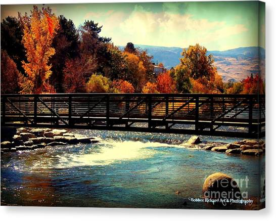 Bridge Over The Truckee River Canvas Print