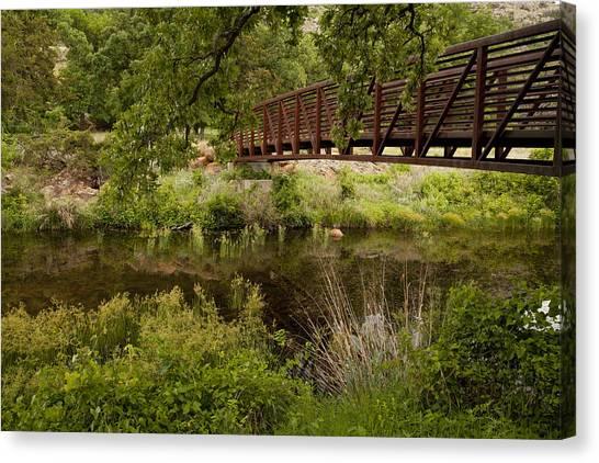 Bridge Over Wetlands Canvas Print