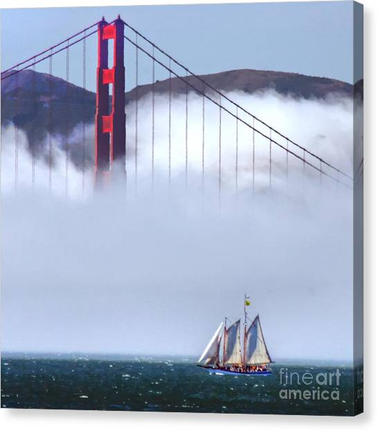 Bridge Sailing Canvas Print