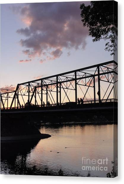 Bridge Scenes August - 1 Canvas Print
