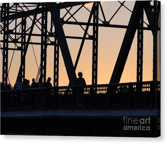 Bridge Scenes August - 2 Canvas Print