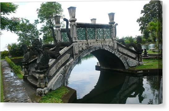 bridge side Bali Canvas Print by Jack Edson Adams