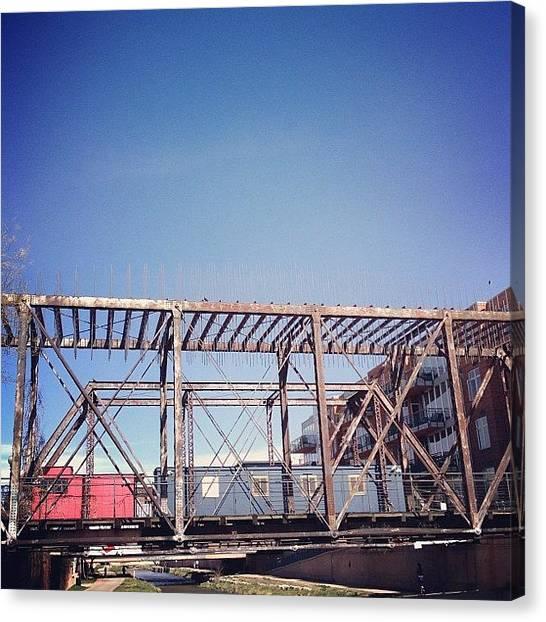 Rollerblading Canvas Print - #bridge #sights Around #denver by Valaree Hoge