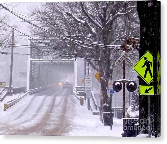 Bridge Street To New Hope Canvas Print