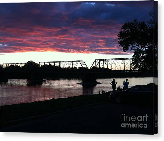 Bridge Sunset In June Canvas Print