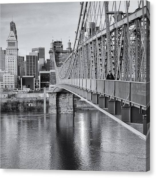 Bridge To Cincinnati Canvas Print