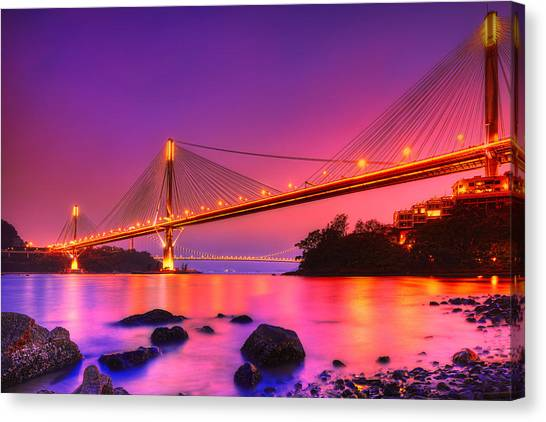 Hong Kong Canvas Print - Bridge To Dream by Midori Chan