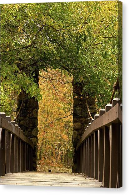 Bridge To Enchantment Canvas Print by Kimberly Davidson
