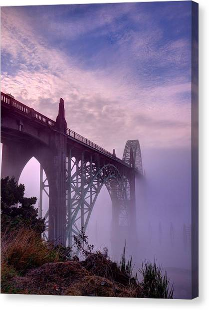 Bridge To Fog Canvas Print