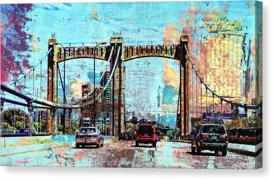 Bridge To Minneapolis Canvas Print