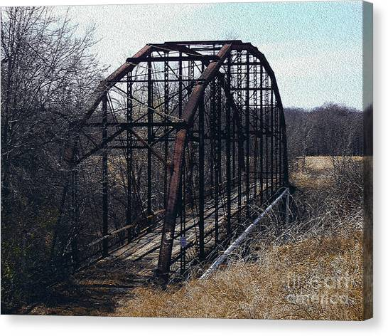 Bridge To Nowhere Canvas Print by R McLellan