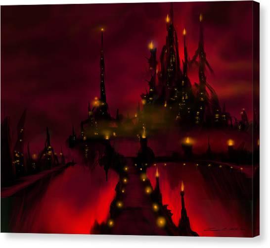 Bridge To Red Castle Canvas Print