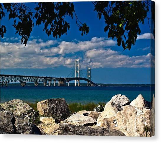 Bridge To The U.p. Canvas Print