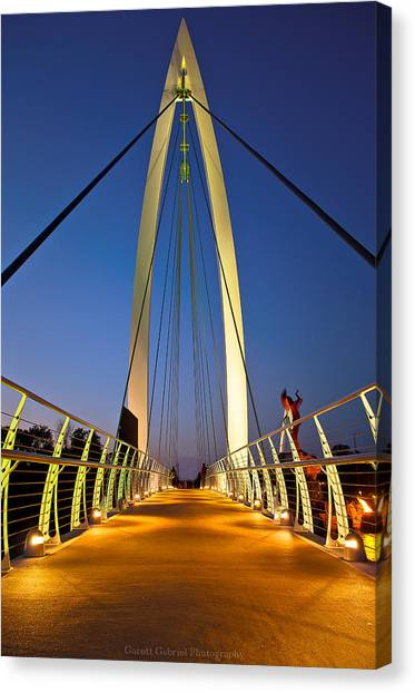 Bridge With Light Canvas Print