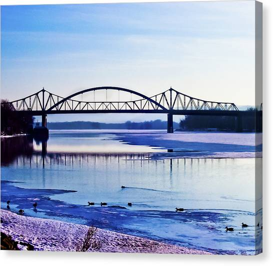 Bridges Over The Mississippi Canvas Print