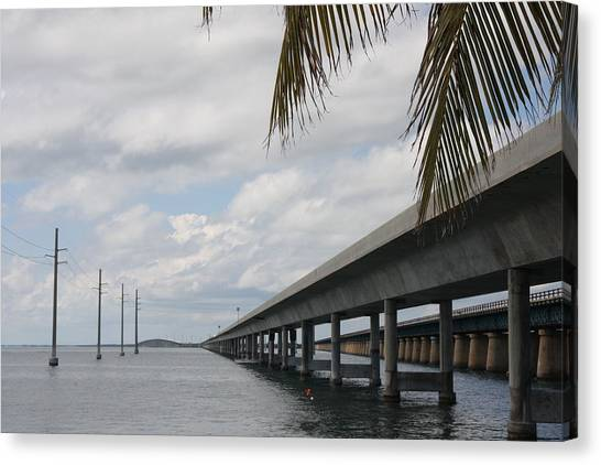 Bridges Over The Sea Canvas Print by Christiane Schulze Art And Photography
