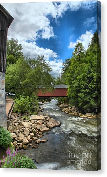 Bridging Slippery Rock Creek Canvas Print