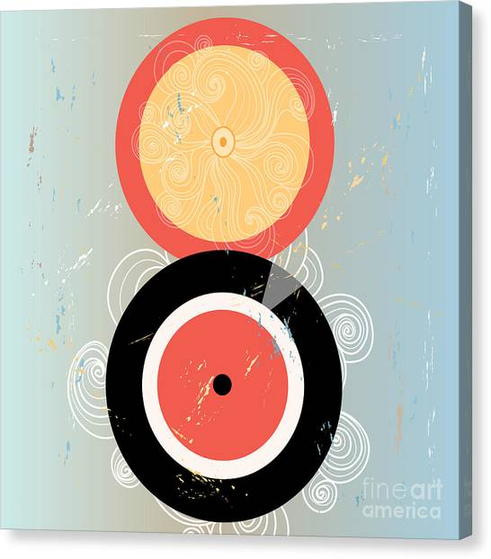 Sun Canvas Print - Bright Abstract Background With Plates by Tanor