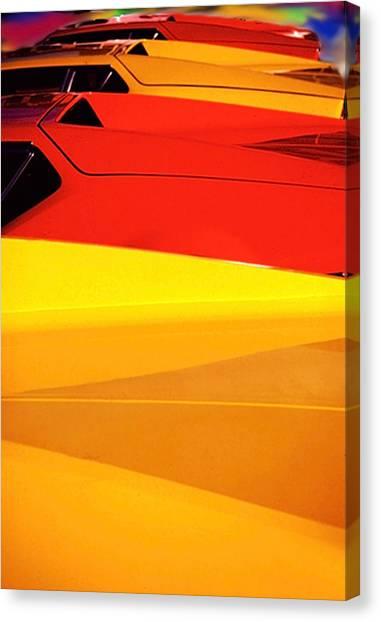 Bright Color Ferrari's Canvas Print