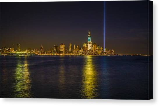 Bright Freedom Tower Canvas Print by Chris Halford