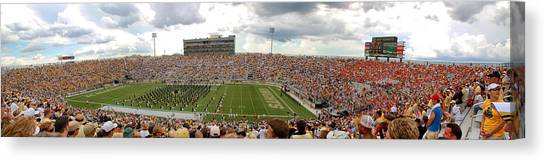 University Of Central Florida Ucf Canvas Print - Bright House Networks Stadium by Georgia Fowler