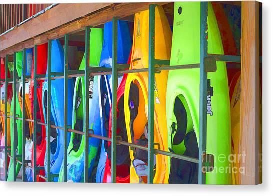 Bright Kayak Canvas Print
