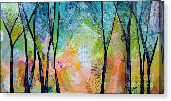 Maine Winter Canvas Print - Bright Skies For Dark Days I by Shadia Derbyshire
