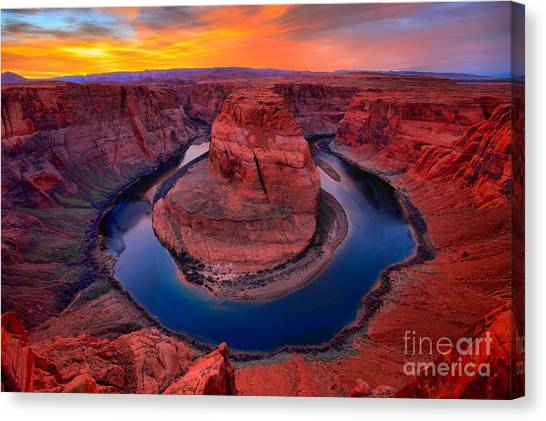 Bright Skies Over Horseshoe Canvas Print