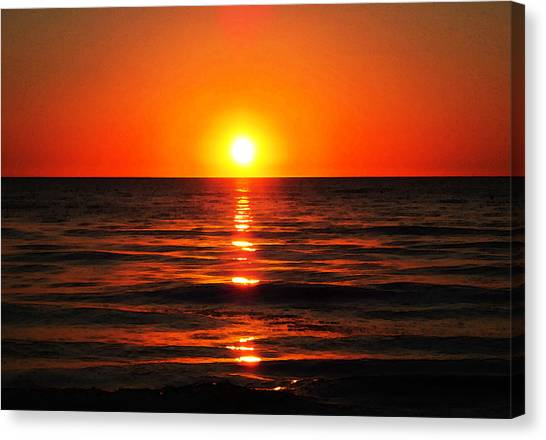 Soothing Canvas Print - Bright Skies - Sunset Art By Sharon Cummings by Sharon Cummings