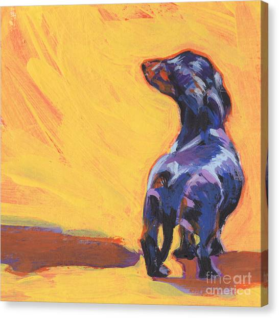 Dachshunds Canvas Print - Bright Sunny Day by Lea S